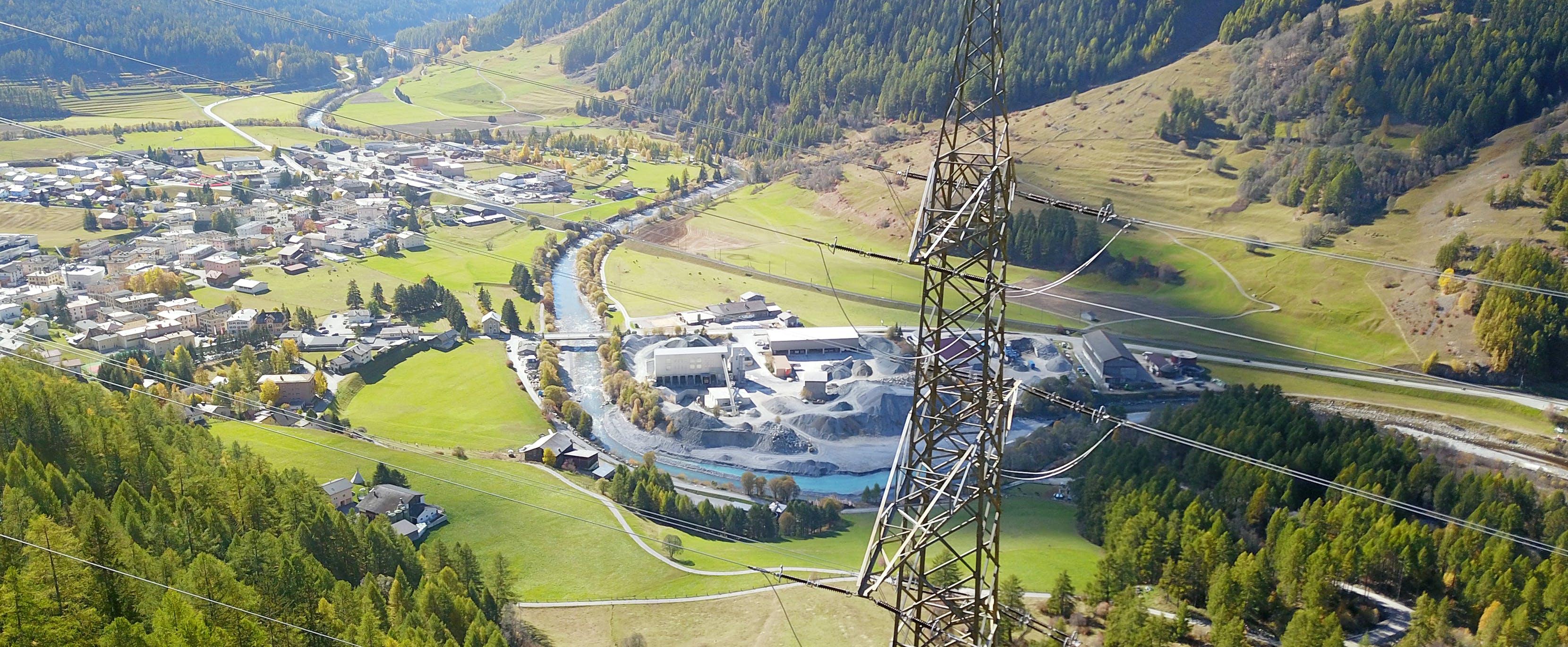 Existing 380 kV overhead line Pradella – La Punt