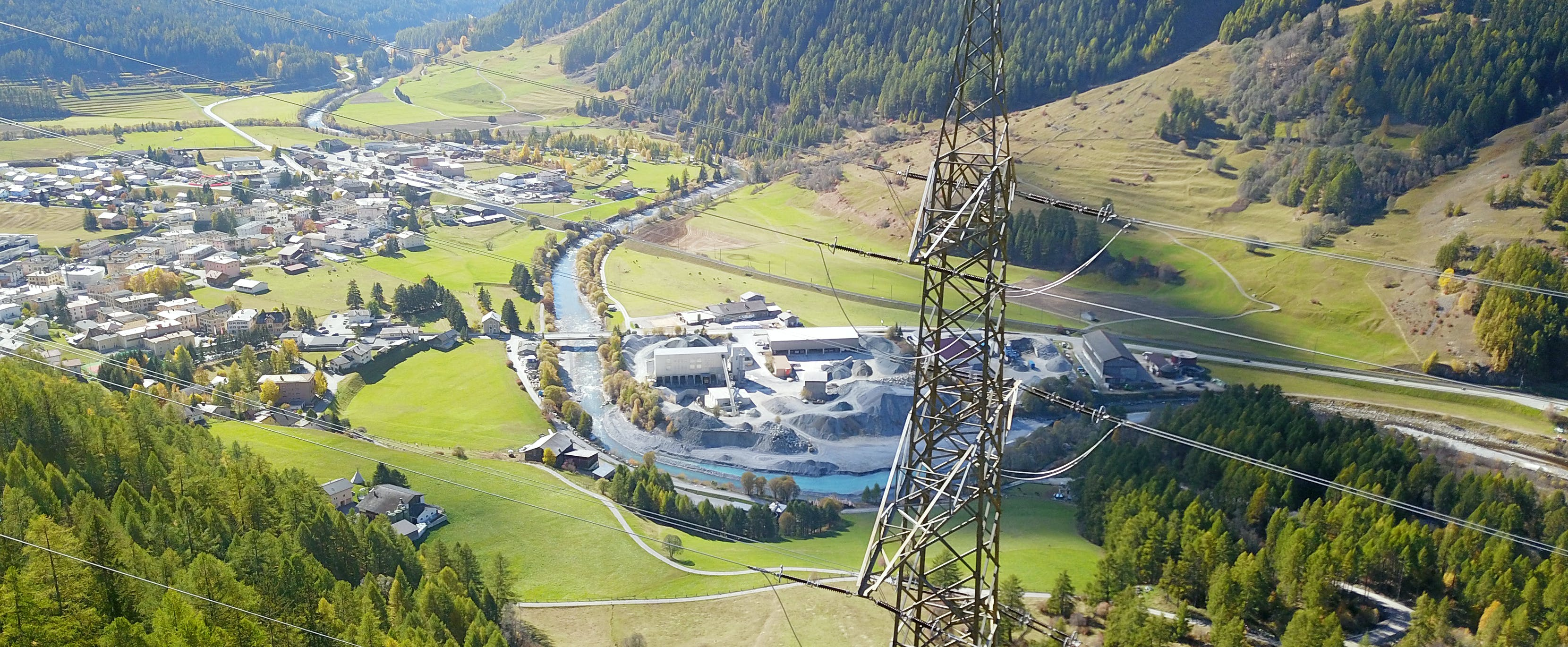Bestehende 380-kV-Leitung Pradella – La Punt